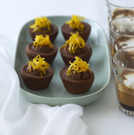 Recipe: Little Chocolate Friands with Candied Orange