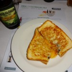 Danny Russo's cheese and truffle toastie with cheddar Welsh rarebit.