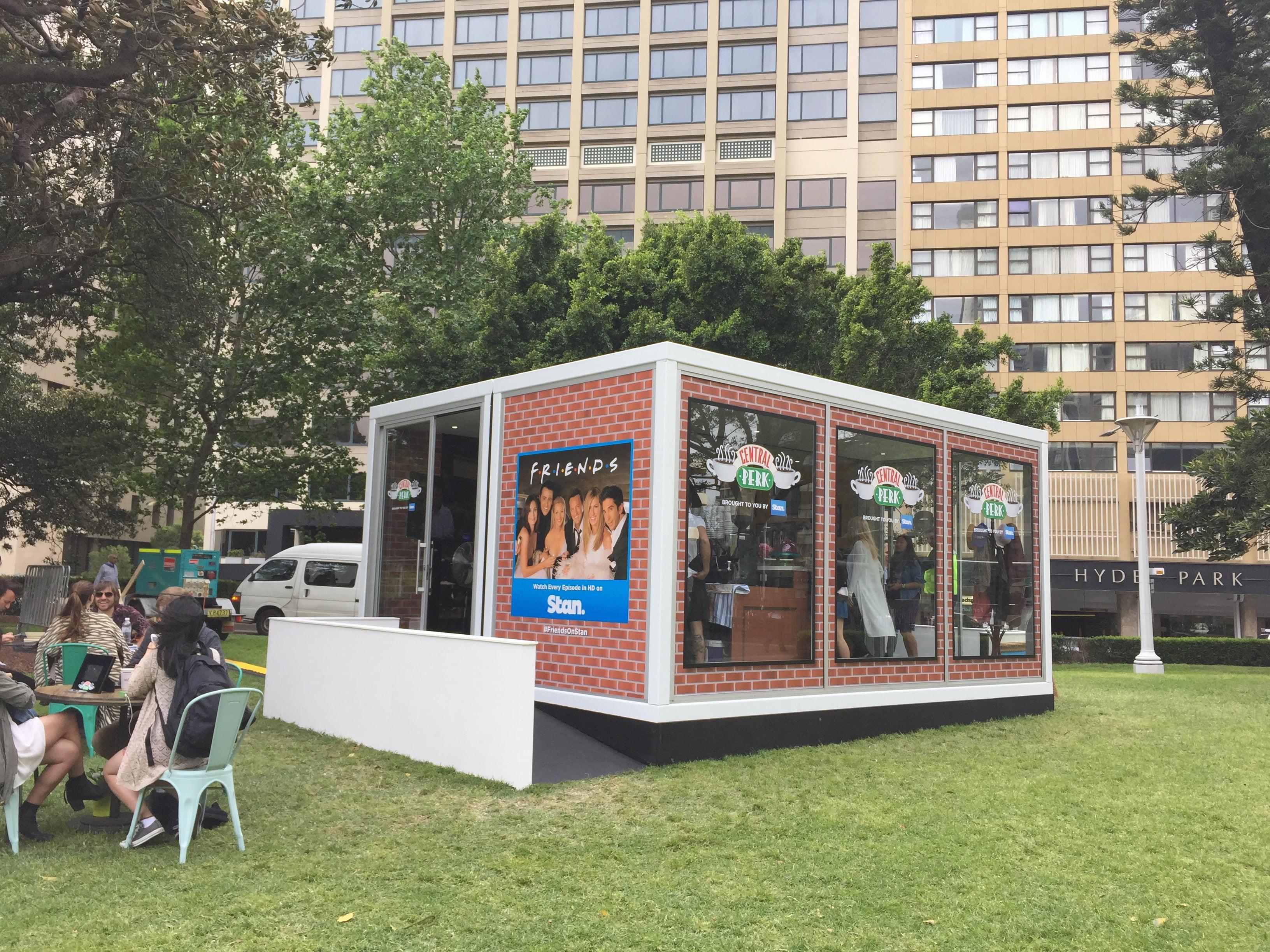 central perk pops up in hyde park eat drink play. Black Bedroom Furniture Sets. Home Design Ideas
