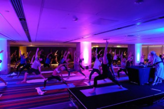Free Yoga Vibes Class at Hilton Sydney in ViVID