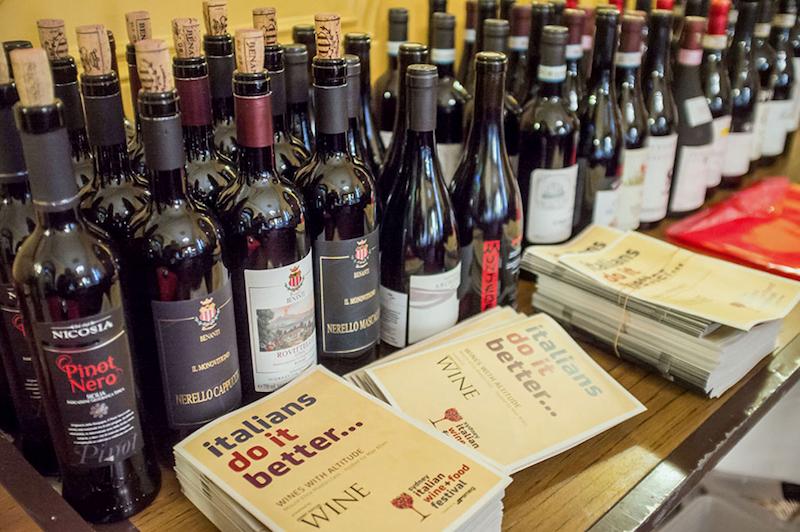 Italian Wine & Food Festival - Wine Bottles