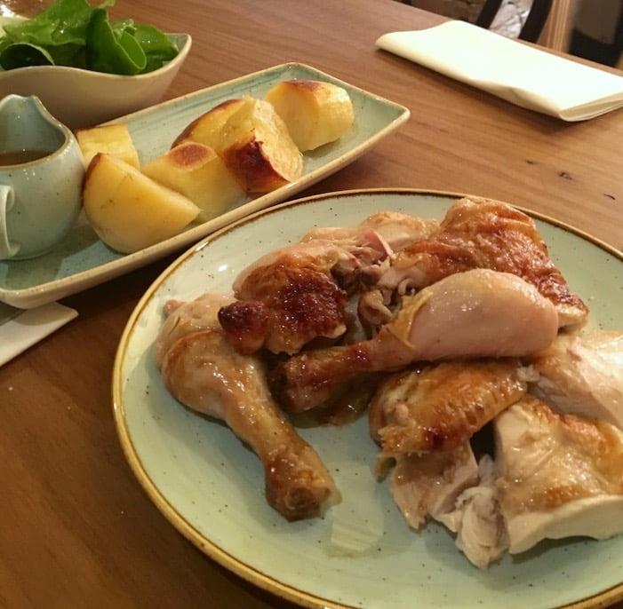 duke's bistro dog-hotel-chicken