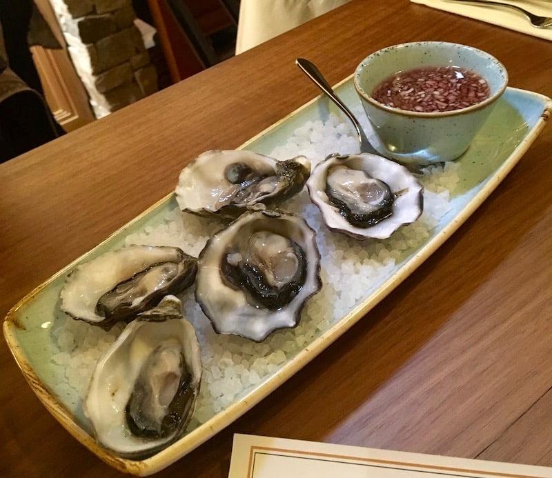 Duke Bistro dog hotel oysters