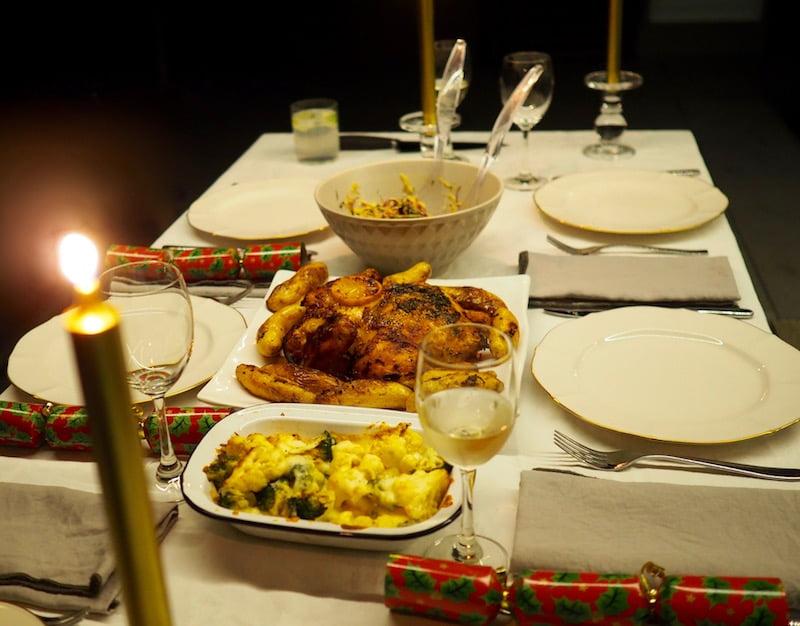 dinner party prep David Jones fresh prepared range Christmas table