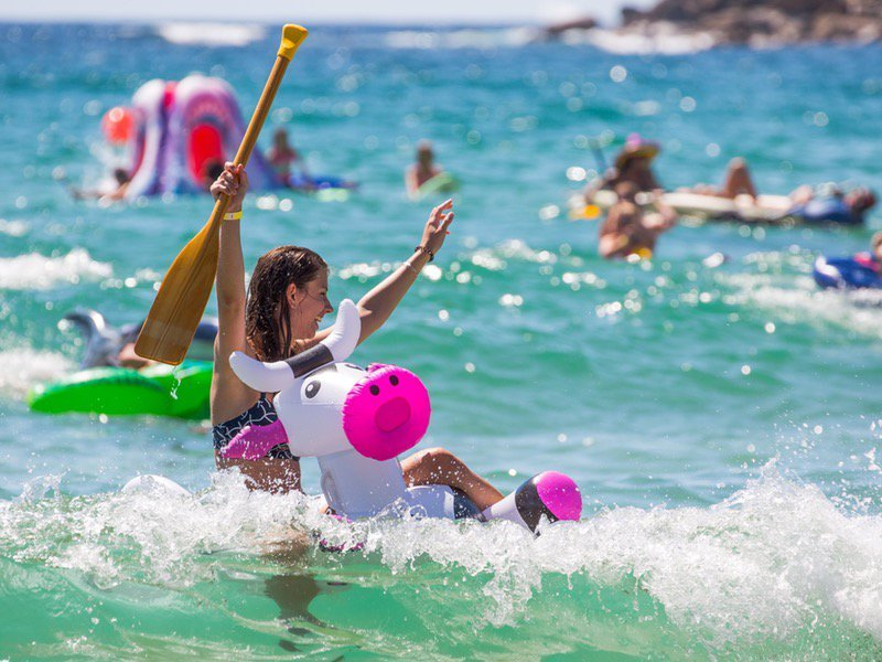 Manly Inflatable Boat Race