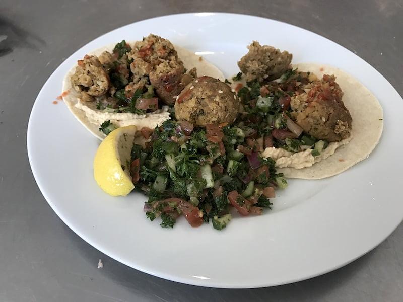 eat fit food falafel