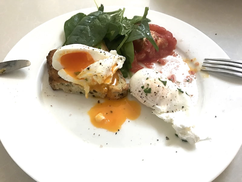 eat fit food poached eggs