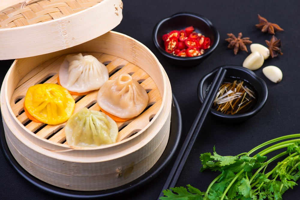 steamed pork dumplings (xiao long bao)