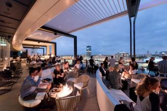 Zephyr Rooftop Bar night shot