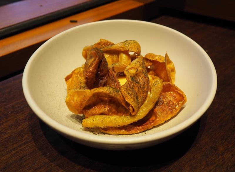Annata Restaurant onion skins