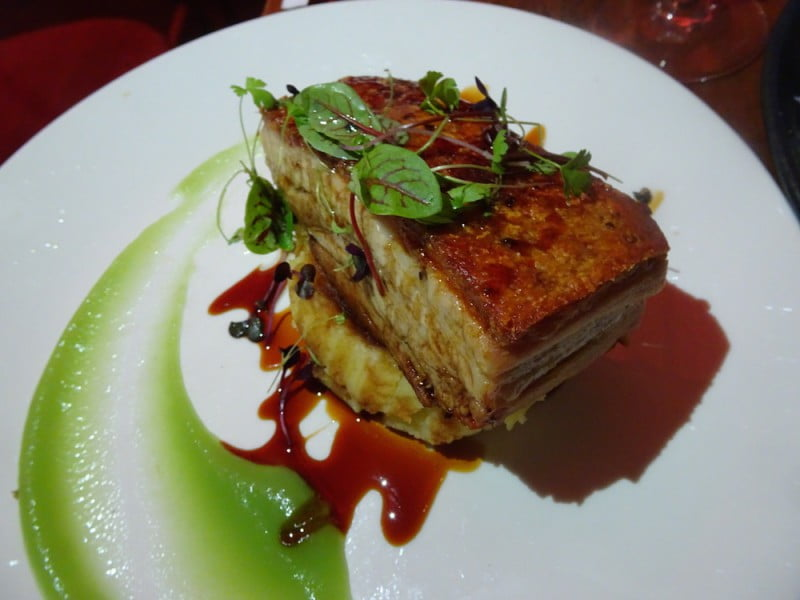 Wild sage pork belly