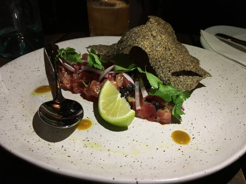 The Butler ruby tuna tartare