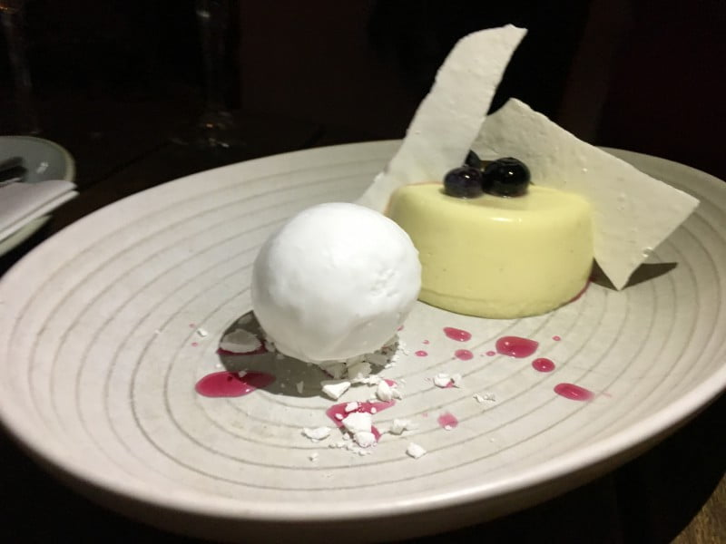 The Butler Lime Panna cotta