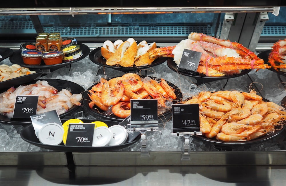 david jones food hall seafood