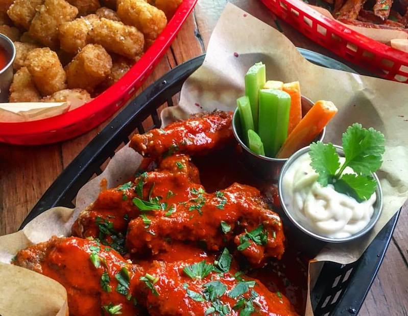 wings and tins tots