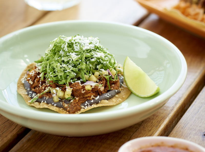 Fonda Tostada Pulled Pork