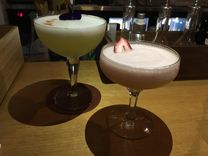 Monkey's Corner Geisha and Pandan Ginger Pisco Sour