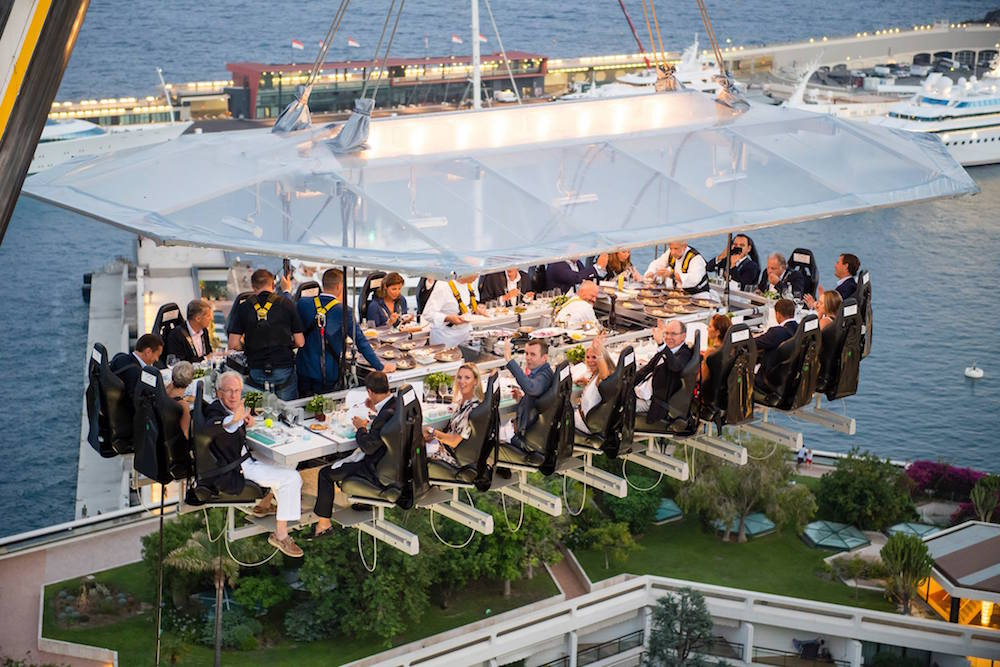Dinner In The Sky Opens For Vino Paradiso Eat Drink Play