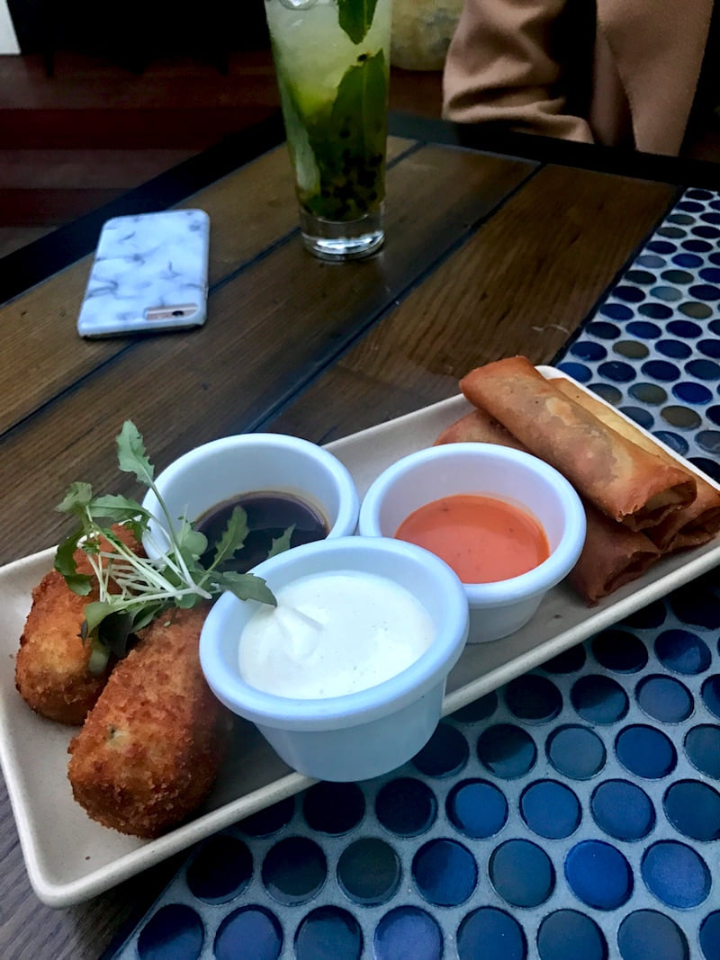 The Royal Oak Hotel - Spring Rolls and Croquettes