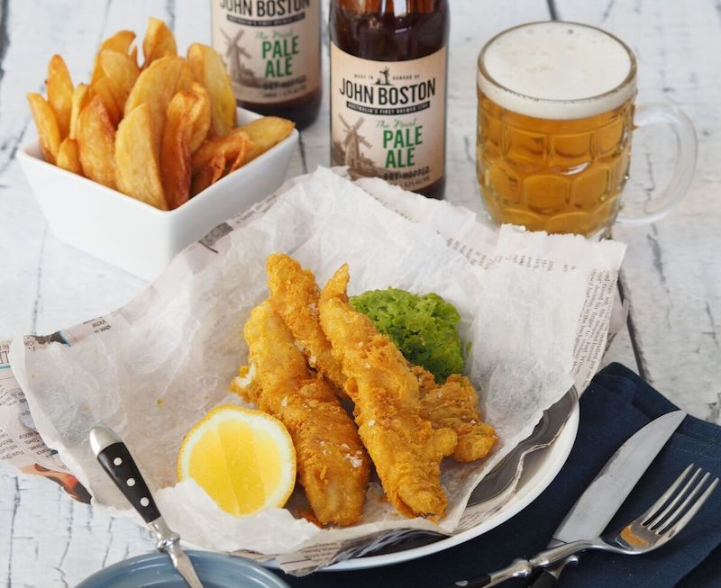 John Boston Pale Ale + Beer Battered Flathead & Chips