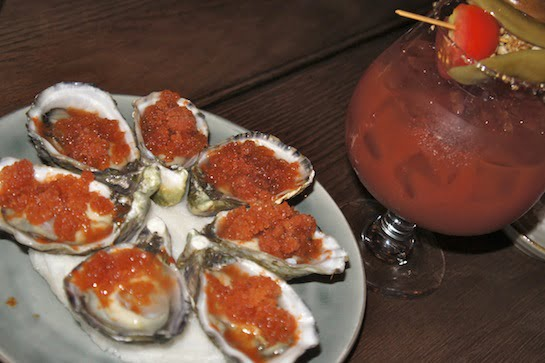 The Bourbon Sydney Bloody Mary Oysters