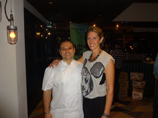 Head Chef, Danny Russo, and Australia's Beer Diva, Kirrily Waldhorn.