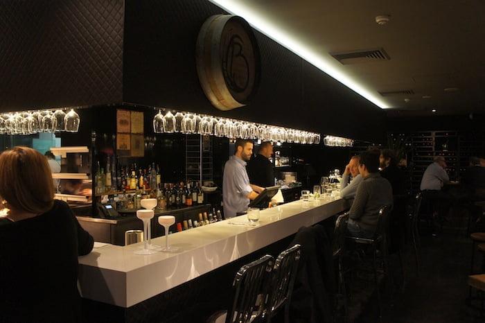 barrel bar and dining