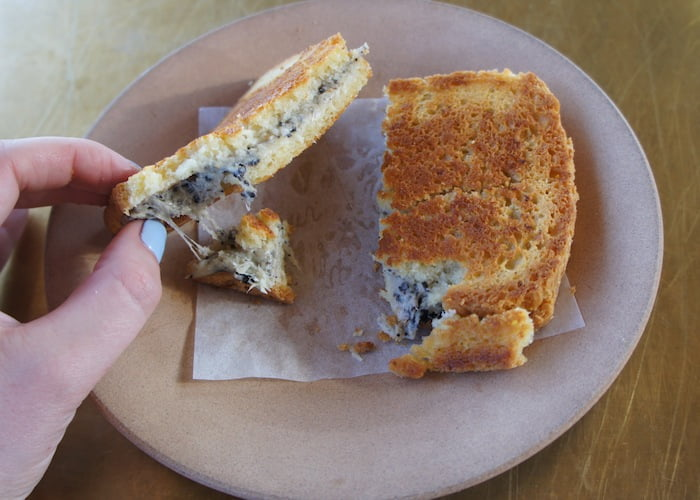 Five cheese truffle toastie ($22)