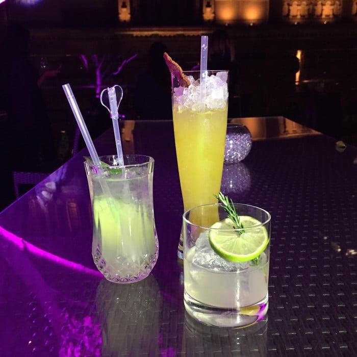 Hilton Hotel Three Vivid Cocktails