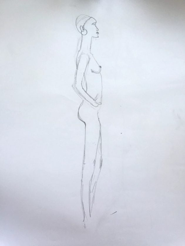 life drawing lani mitchell sketch