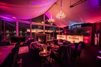 Chivas lodge, winter pop up bar sydney