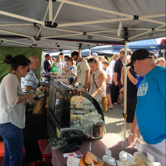 Orange Grove Organic Farmers Markets Cheese Stall