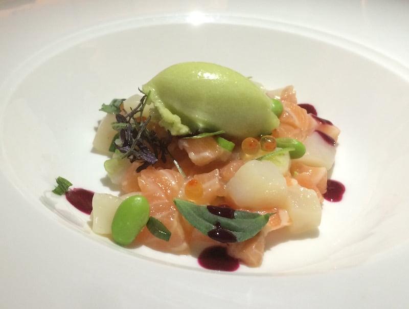 Rawsons Restaurant - Tasmanian Salmon & Scallop Ceviche