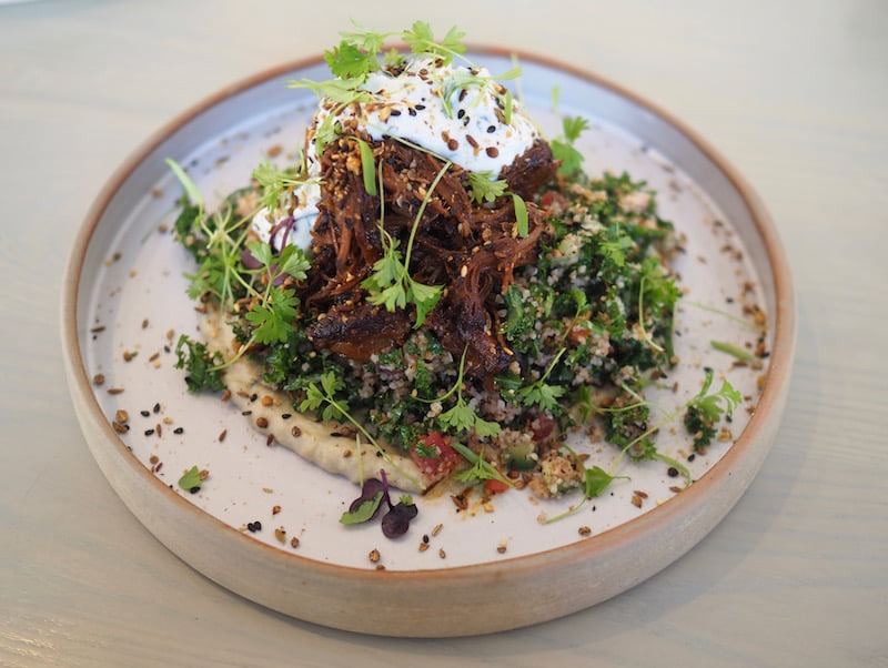 The Nine lamb salad