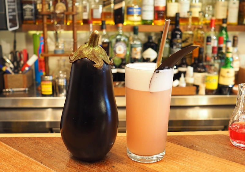 bar tag emoji fizz purple eggplant drink