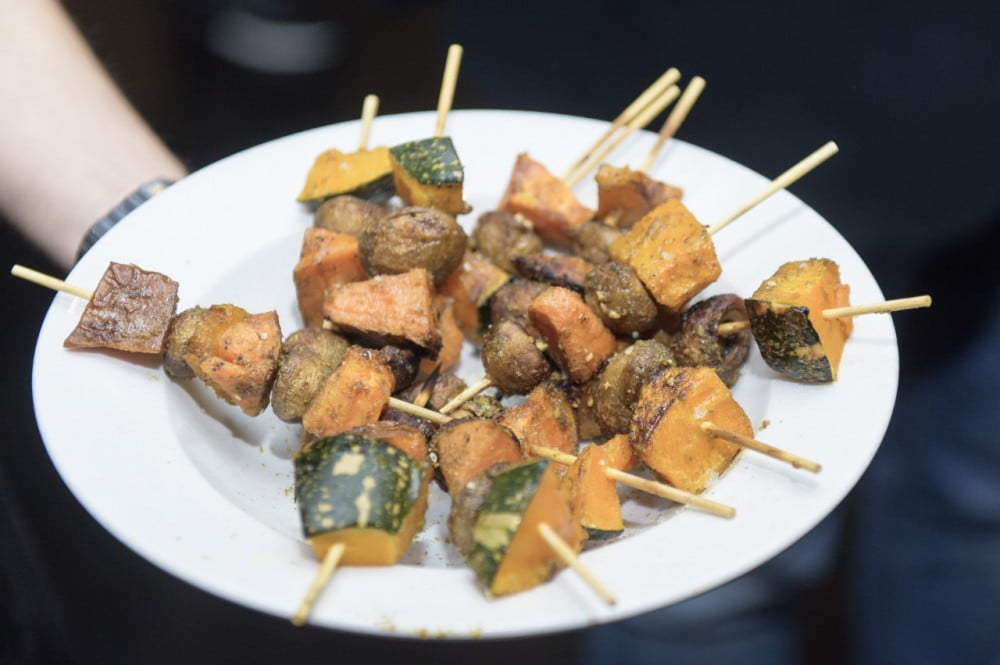 cubby's kitchen roasted vegetable kebabs