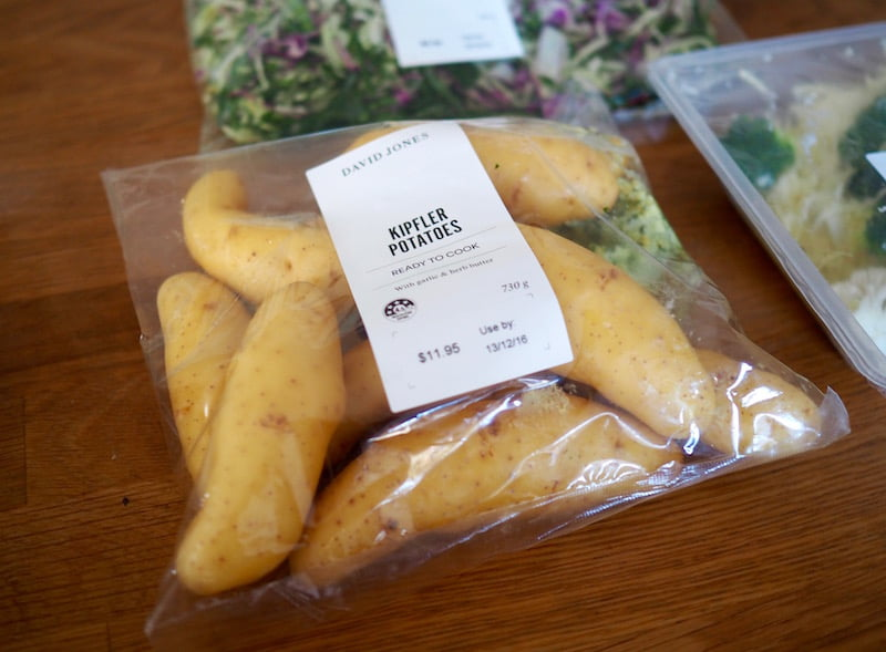 dinner party prep David Jones fresh range kipfler potatoes
