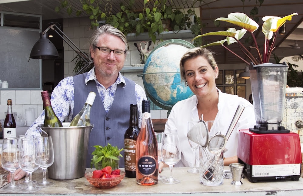 Dan Murphy drink expert Peter Nixon with nutritionist Rosie Mansfield at the Coogee Pavilion.