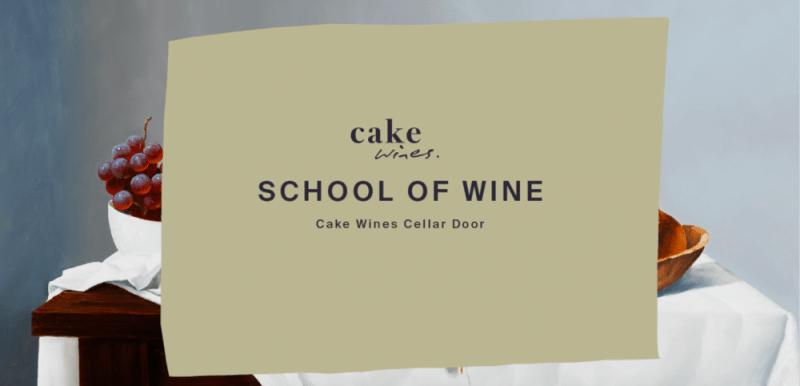 Cake wines school of wine