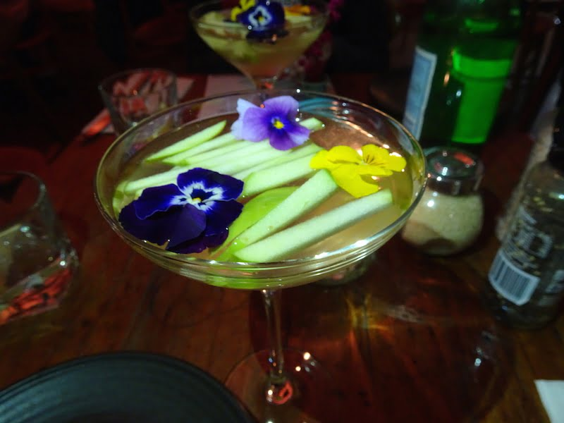 Wild Sage apple and lychee tini