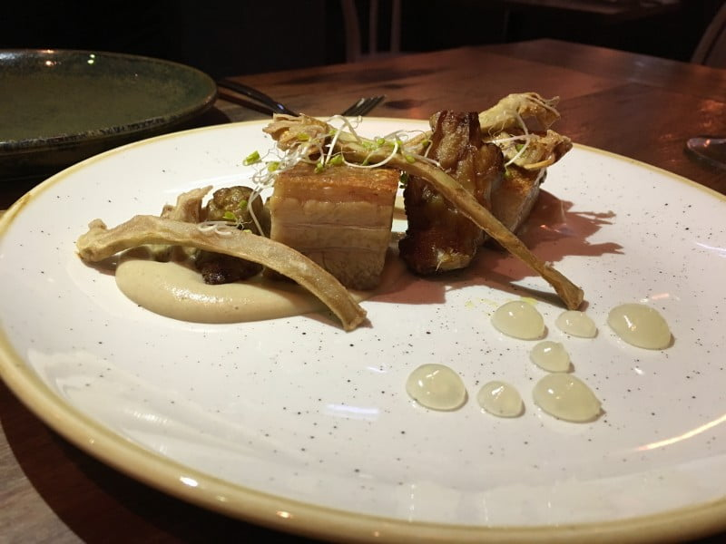 The Hyde, pork belly with artichoke