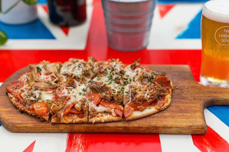 the london hotel pizza