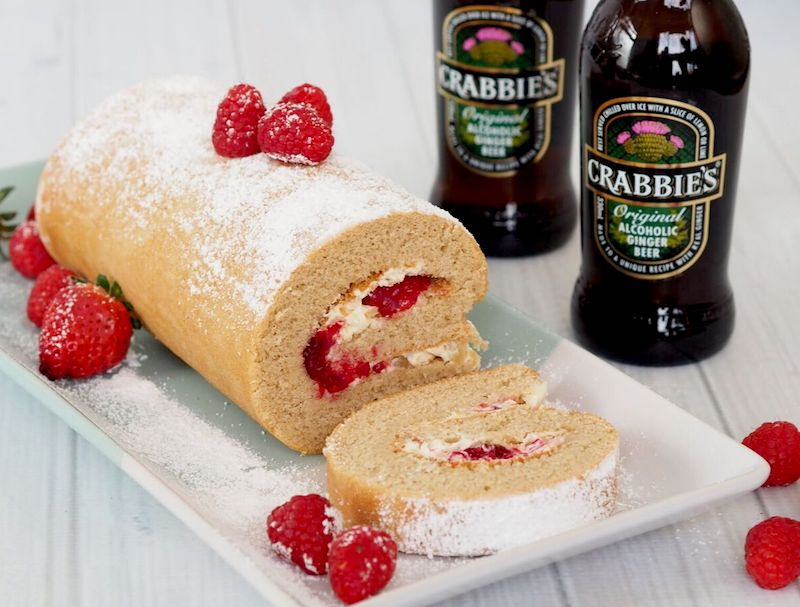 Cooking with beer Crabbie's Alcoholic Ginger Beer + Ginger Roulade