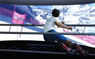 virtual reality skiing