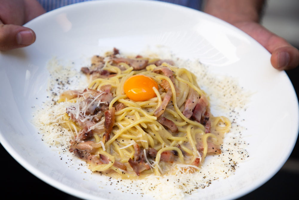 Recipe: Downtown Spaghetti Carbonara - eatdrinkplay